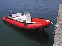 Barca semirigida Immagini Stock