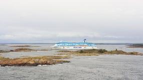 Barca Silja Line Fotografia Stock Libera da Diritti