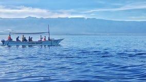 Barca sola del mare Fotografia Stock Libera da Diritti
