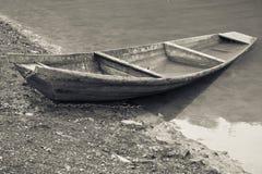 Barca solitaria Fotografia Stock Libera da Diritti