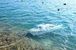Barca sommersa Immagine Stock Libera da Diritti
