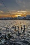 Barca sommersa Immagini Stock Libere da Diritti