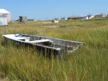 Barca stagionata; abbandonato Fotografie Stock