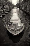 Barca stretta di giro a Amsterdam Fotografie Stock