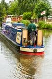 Barca stretta sul canale delle Midlands. fotografie stock libere da diritti