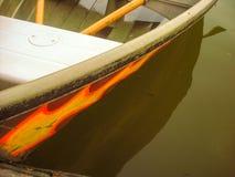 Barca su acqua Fotografia Stock