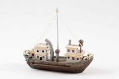 Barca su bianco Immagine Stock