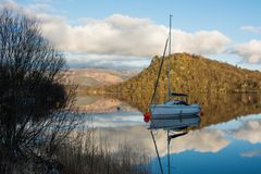 Barca su Loch Lomond Fotografia Stock