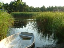Barca su un puntello fotografia stock