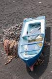 Barca su una spiaggia a Lanzarote fotografia stock