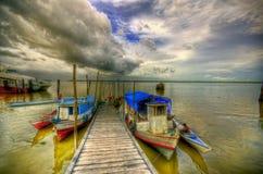 Barca sul Amazon Fotografia Stock