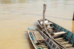 barca sul canale Immagine Stock