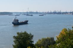 Barca sul Danubio romania Fotografia Stock Libera da Diritti