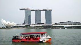 Barca sul fiume di Singapore Fotografia Stock Libera da Diritti