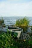 Barca sul lago Nero, Russia Fotografie Stock Libere da Diritti