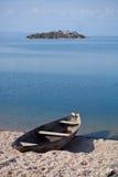 Barca sul lago Skadar Fotografia Stock