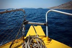 Barca sul mare Fotografie Stock Libere da Diritti