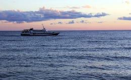 Barca sul mare Fotografia Stock Libera da Diritti