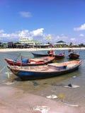 Barca sul mare Fotografia Stock