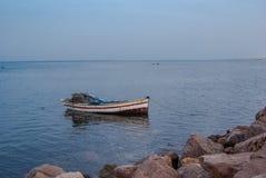 Barca sul mare Immagini Stock