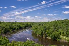 Barca sul Mississippi fotografia stock