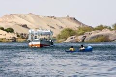 Barca sul Nilo Immagini Stock Libere da Diritti