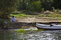 Barca sul Nilo Fotografia Stock