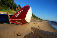 Barca sul puntello Fotografia Stock Libera da Diritti