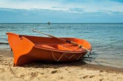 Barca sul puntello Immagini Stock Libere da Diritti