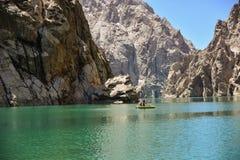 Barca sul suu di Kel del lago Fotografia Stock