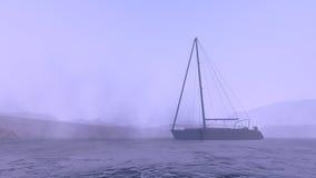 Barca sull'Artide Fotografie Stock