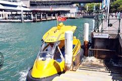 Barca sulla baia del cuore edule (Sydney) in Nuovo Galles del Sud, Australia Immagine Stock Libera da Diritti
