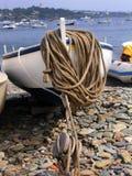 Barca sulla spiaggia immagine stock