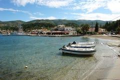 Barca sulla spiaggia Fotografie Stock Libere da Diritti