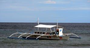 Barca sulla spiaggia dell'isola di Panglao Immagine Stock Libera da Diritti