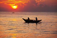 Barca sulla Sri Lanka Fotografie Stock Libere da Diritti