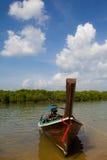 Barca tailandese del pescatore Fotografie Stock