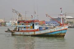 Barca tailandese dell'industria della pesca Fotografia Stock Libera da Diritti