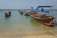 Barca tailandese tradizionale in Ko Lanta, Tailandia Immagini Stock Libere da Diritti