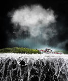 Barca in tempesta Immagine Stock