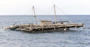 Barca tipica del pesce di Sulawesi del nord immagine stock libera da diritti