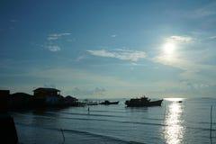 Barca tradizionale del pescatore immagini stock