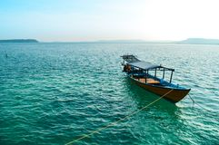 Barca tradizionale di immersione subacquea immagine stock libera da diritti