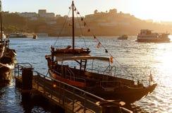 Barca tradizionale nel Portogallo Fotografia Stock