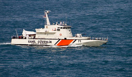 Barca turca della guardia costiera Fotografia Stock Libera da Diritti