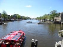 Barca turistica a Amsterdam Fotografie Stock