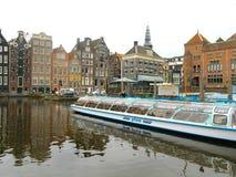 Barca turistica 0805 di Amsterdam Immagine Stock Libera da Diritti