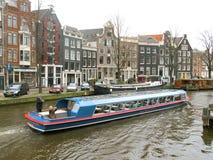 Barca turistica 0825 di Amsterdam Fotografia Stock