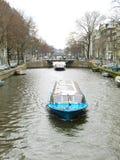Barca turistica 0936 di Amsterdam Immagini Stock