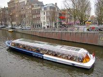 Barca turistica 0941 di Amsterdam Fotografia Stock